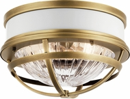 Kichler 43013NBR Tollis Contemporary Natural Brass Flush Lighting