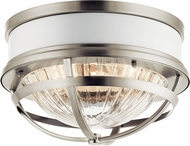 Kichler 43013NI Tollis Modern Brushed Nickel Flush Mount Lighting