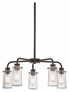 Kichler 43058OZ Braelyn Olde Bronze 25 Inch Diameter Retro Chandelier - Downlight