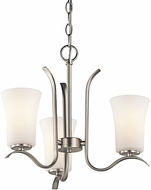 Kichler 43073NIL16 Armida Modern Brushed Nickel LED Mini Chandelier Lighting