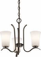 Kichler 43073OZL16 Armida Contemporary Olde Bronze LED Mini Lighting Chandelier