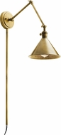 Kichler 43115NBR Ellerbeck Contemporary Natural Brass Swing Arm Wall Lamp