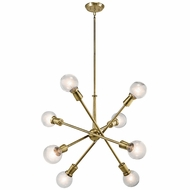 Kichler 43118NBR Armstrong Modern Natural Brass Chandelier Light