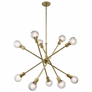 Kichler 43119NBR Armstrong Contemporary Natural Brass Ceiling Chandelier