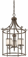 Kichler 43139MIZ Tallie Contemporary Mission Bronze Foyer Light Fixture