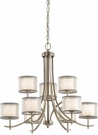 Kichler 43150AP Tallie Contemporary Antique Pewter Ceiling Chandelier