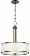 Kichler 43153MIZ Tallie Contemporary Mission Bronze Drum Hanging Light
