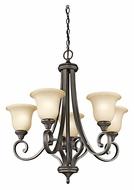 Kichler 43156OZ Monroe Traditional Olde Bronze 27 Inch Diameter Medium Chandelier Light Fixture