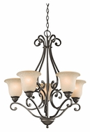 Kichler 43224OZ Camerena 5 Lamp Olde Bronze Medium 27 Inch Diameter Chandelier Light