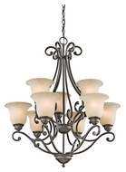 Kichler 43226OZ Camerena Large Olde Bronze 30 Inch Diameter Antique Chandelier Light - 9 Lamps