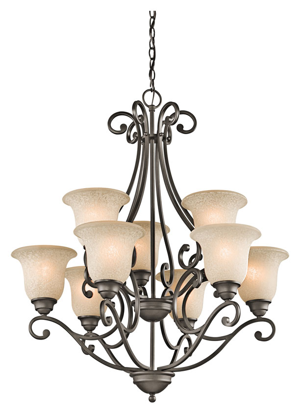 Kichler 43226OZ Camerena Large Olde Bronze 30 Inch Diameter Antique  Chandelier Light - 9 Lamps. Loading zoom - Kichler 43226OZ Camerena Large Olde Bronze 30 Inch Diameter Antique