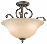 Kichler 43232OZ Camerena 18 Inch Diameter Traditional Olde Bronze Bowel Semi Flush Lighting