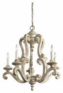 Kichler 43256DAW Hayman Bay Traditional 5 Candle Distressed Antique White Chandelier