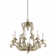 Kichler 43265DAW Hayman Bay Distressed Antique White Hanging Chandelier