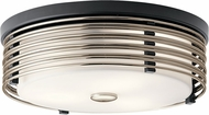 Kichler 43293BK Bensimone Modern Black Flush Mount Lighting Fixture