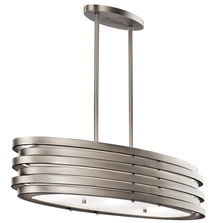 Kichler 43303ni Roswell Contemporary Brushed Nickel Finish 7 75 Tall Kitchen Island Light Fixture
