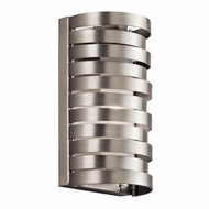 Kichler 43305NI Roswell Contemporary Brushed Nickel Finish 8.5 Tall Halogen Wall Lighting