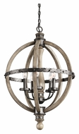Kichler 43324DAG Evan Transitional 5 Lamp Distressed Antique Gray Drop Lighting
