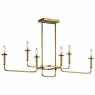 Kichler 43362NBR Alden Contemporary Natural Brass Chandelier Light