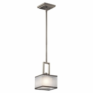 Kichler 43442NI Kailey Contemporary Brushed Nickel Finish 6  Wide Halogen Mini Hanging Pendant Lighting