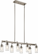 Kichler 43457CLP Braelyn Contemporary Classic Pewter Kitchen Island Light