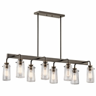 Kichler 43457OZ Braelyn Modern Olde Bronze Island Lighting