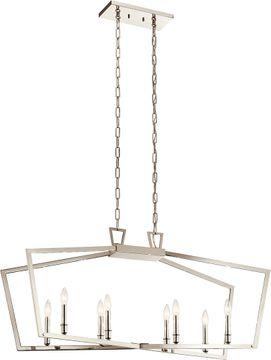 Kichler 43494PN Abbotswell Modern Polished Nickel Kitchen Island Light