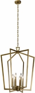 Kichler 43495NBR Abbotswell Modern Natural Brass 24.75  Foyer Lighting Fixture