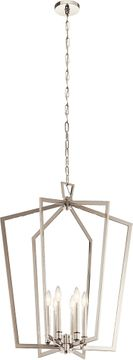 Kichler 43495PN Abbotswell Modern Polished Nickel 25 Entryway Light Fixture