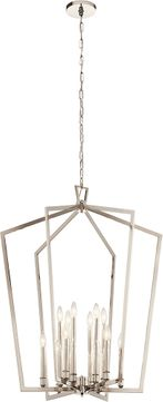 Kichler 43496PN Abbotswell Modern Polished Nickel 30  Foyer Light Fixture