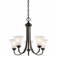 Kichler 43503OZ Keiran Olde Bronze Finish 20.75  Wide Mini Hanging Chandelier
