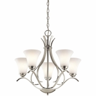 Kichler 43504NI Keiran Brushed Nickel Finish 23.25  Tall Chandelier Light