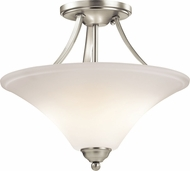 Kichler 43512NIL16 Keiran Contemporary Brushed Nickel LED Flush Ceiling Light Fixture
