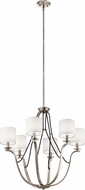 Kichler 43532CLP Thisbe Classic Pewter Ceiling Chandelier