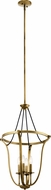 Kichler 43535NBR Thisbe Natural Brass Entryway Light Fixture