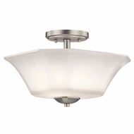 Kichler 43636NI Serena Brushed Nickel Flush Ceiling Light Fixture