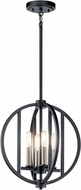 Kichler 43642BK Samural Contemporary Black 14  Pendant Hanging Light