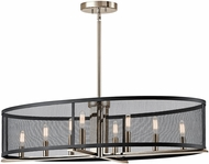 Kichler 43712PN Titus Contemporary Polished Nickel Kitchen Island Light