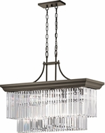 Kichler 43745OZ Emile Modern Olde Bronze Island Lighting