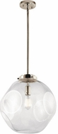 Kichler 43780PN Ellis Contemporary Polished Nickel Drop Ceiling Lighting
