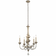 Kichler 43804SGD Rosalie Sterling Gold Chandelier Light