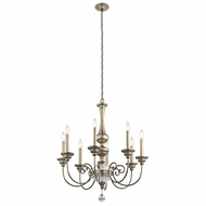 Kichler 43805SGD Rosalie Sterling Gold Chandelier Lighting