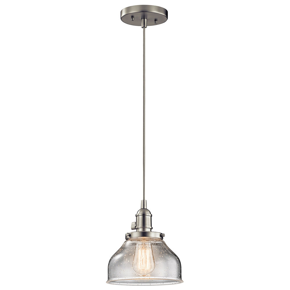 Kichler 43850ni avery brushed nickel mini pendant lighting fixture kichler 43850ni avery brushed nickel mini pendant lighting fixture loading zoom aloadofball Image collections