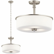 Kichler 43925NIL16 Joelson Brushed Nickel LED Pendant Lighting Fixture / Flush Lighting