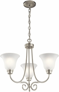 Kichler 43937NI Bixler Brushed Nickel Mini Chandelier Lighting