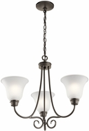 Kichler 43937OZL16 Bixler Olde Bronze LED Mini Chandelier Light