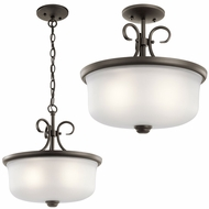 Kichler 43942OZ Bixler Olde Bronze Lighting Pendant / Flush Ceiling Light Fixture