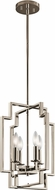 Kichler 43964PN Downtown Deco Contemporary Polished Nickel Entryway Light Fixture