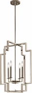 Kichler 43965PN Downtown Deco Modern Polished Nickel Foyer Lighting