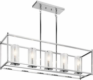 Kichler 43995CH Crosby Contemporary Chrome Kitchen Island Light Fixture